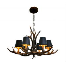 Lampe de bois de cerf américain de style rétro magasin de vêtements nostalgique café Internet lampe en résine