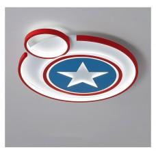 Lampe de chambre d'enfants LED Creative Captain America plafonnier