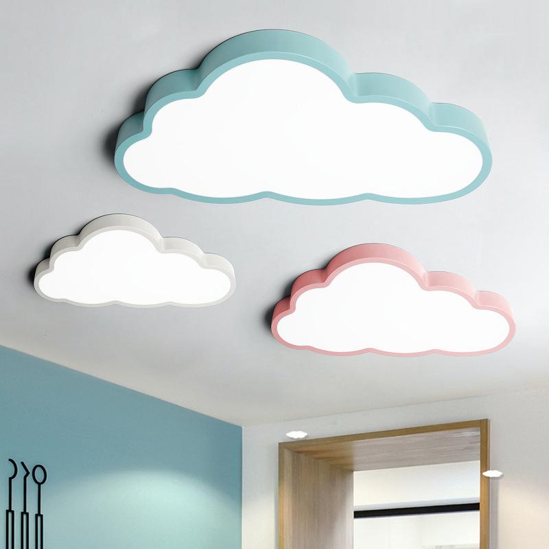 Nuage plafonnier chambre d'enfants dessin animé lampe de chambre petit garçon fille LED lampe de chambre ultra-mince lampe de maternelle