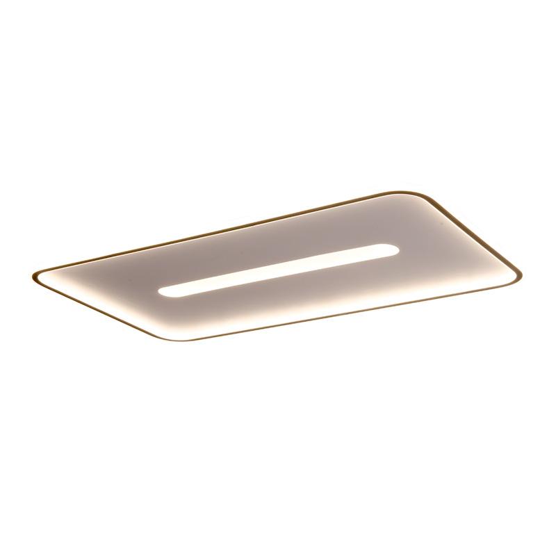 Lampe de salon LED plafonnier rectangulaire minimaliste moderne lampe de chambre à coucher atmosphérique lampes de bureau ultra-minces