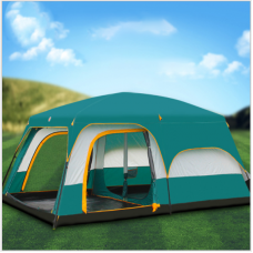 Camping extérieur 2 chambres et 1 salon extérieur 6 personnes, 8 personnes, 10 personnes, 12 personnes, deux chambres et un salon, tente multi-personnes étanche à la pluie