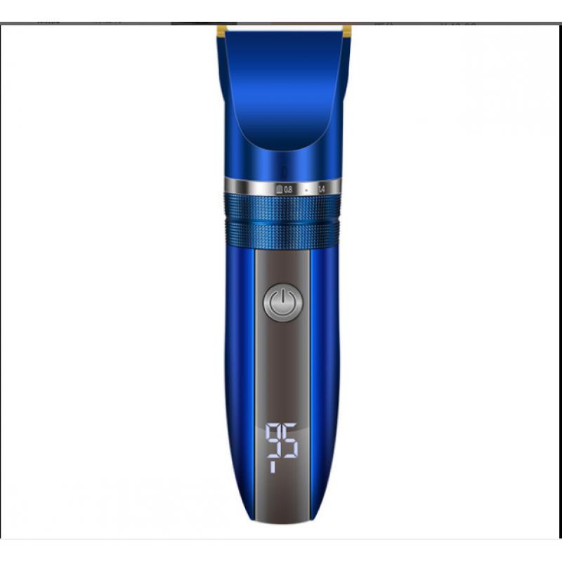 Tondeuse à cheveux professionnelle tondeuse à cheveux électrique tête d'huile tondeuse à cheveux affichage LED lame en céramique