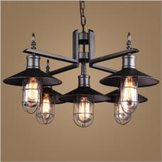 Style américain salon lustre étude chambre café restaurant lampe style industriel rétro pays lampes en fer forgé