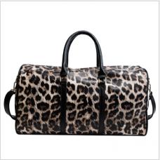 Sac de voyage courte distance, grande capacité, sac de voyage léger, sac à bagages étanche, sac à main imprimé léopard