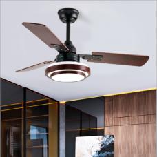 Nordic moderne minimaliste ventilateur lumière étude salle à manger chambre salon ventilateur de plafond lumière LED ventilateur en bois massif lumière