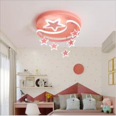 Lampe de chambre moderne simple plafonnier étoile lune créative