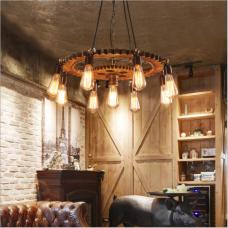 Style industriel personnalité créative rétro équipement lampe magasin de vêtements café restaurant Internet café lustre en fer nostalgique