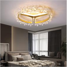Moderne et simple ménage personnalité créative cristal lampe chambre lampe anneau LED plafonnier