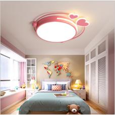 Plafonnier pour chambre d'enfant lampe de chambre pour fille lampe d'amour rose lampe à LED de chambre à coucher moderne