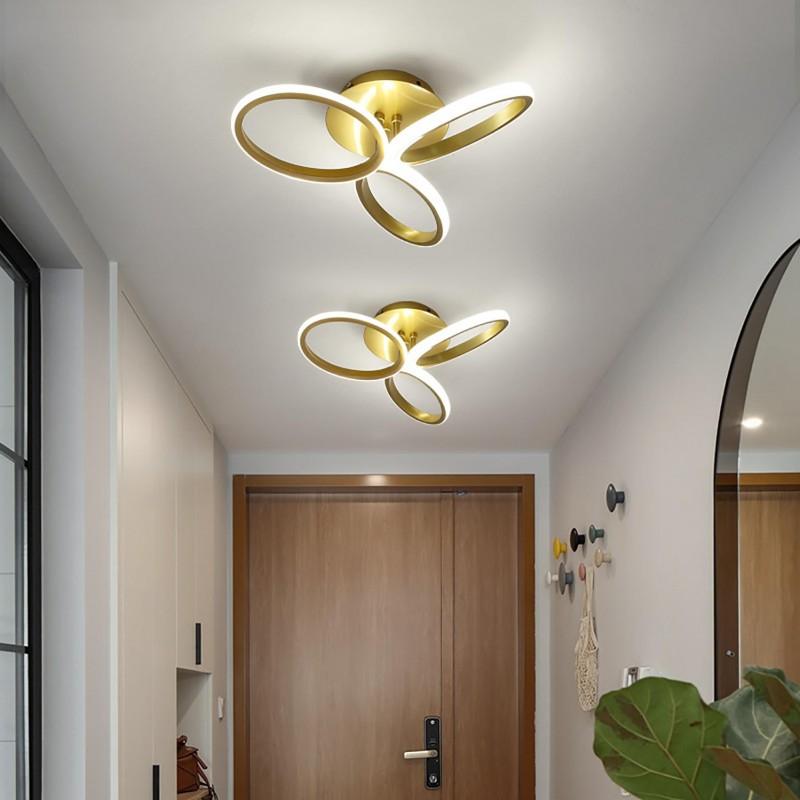 Plafonnier LED nordique simple moderne pétale chambre lampe atmosphère créative art salon lampes