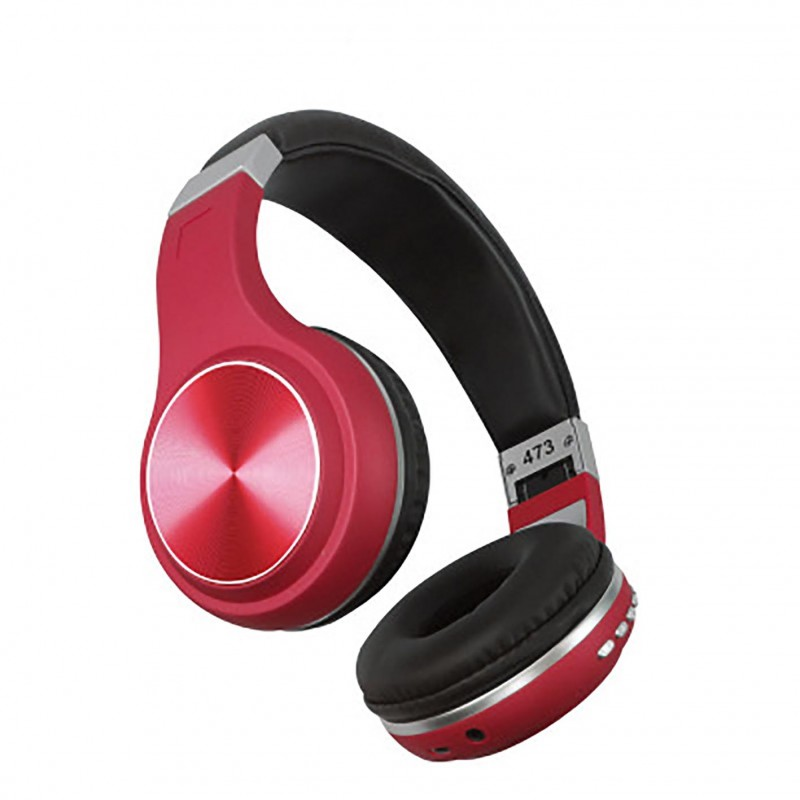 Casque Bluetooth 5.0 Casque sans fil Bluetooth Décoration en métal Casque de sport Bluetooth