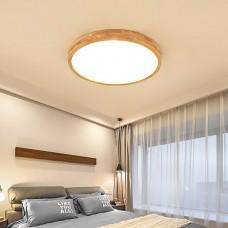 Plafonnier lampe de chambre à coucher LED ronde ultra-mince salon nordique lampe de journal de balcon couloir japonais