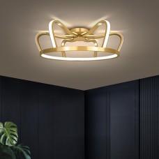 Lampe de chambre à coucher LED plafonnier en aluminium doré lampe de chambre d'enfants lampe de style de luxe
