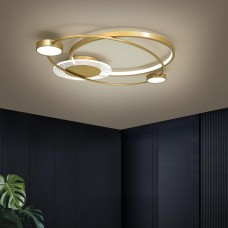 Plafonnier LED Art Mode Lampe de chambre à coucher Lampe de salle à manger en aluminium haut de gamme Lampe design doré