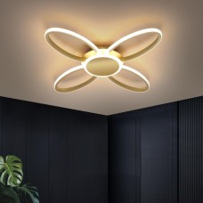 Plafonnier LED personnalité créative maison nordique aluminium chambre lumière simple trèfle à quatre feuilles chambre lumière