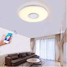 Plafonniers de LED avec de haut-parleur de Bluetooth, Dimmable Musique RGBW Températures de couleur réglables