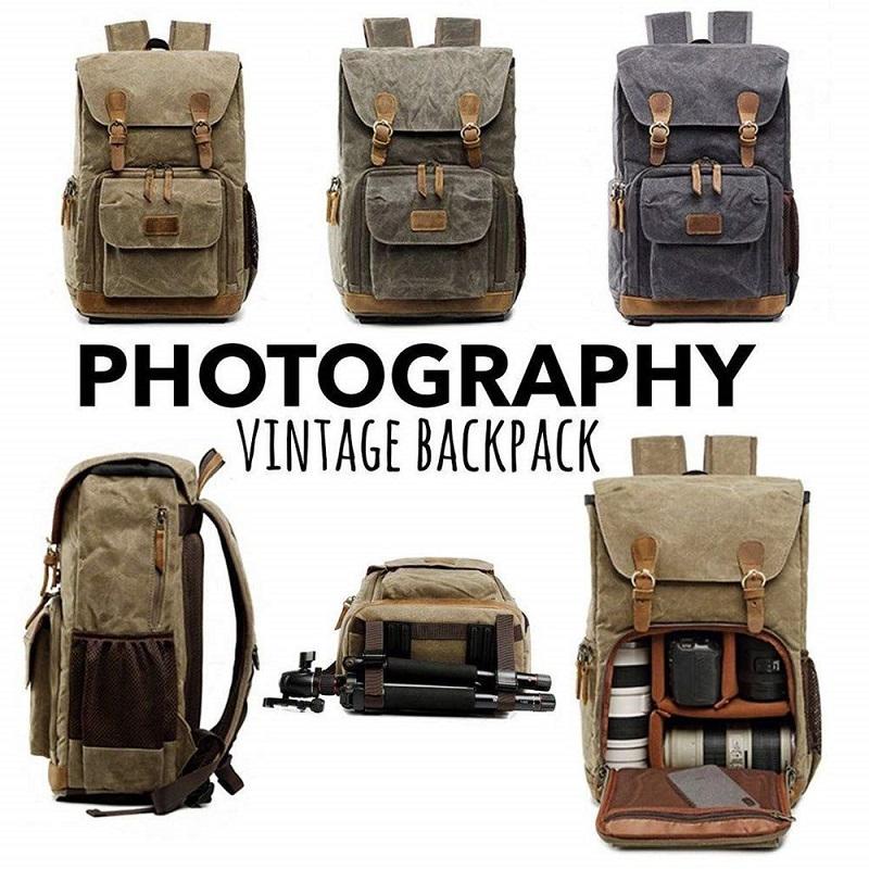 meilleure sélection 27505 b892c Sac à Dos Appareil Photo Sac DSLR Sac de Voyage avec Housse Imperméable  Inclus pour DSLR Canon Nikon Sony Olympus