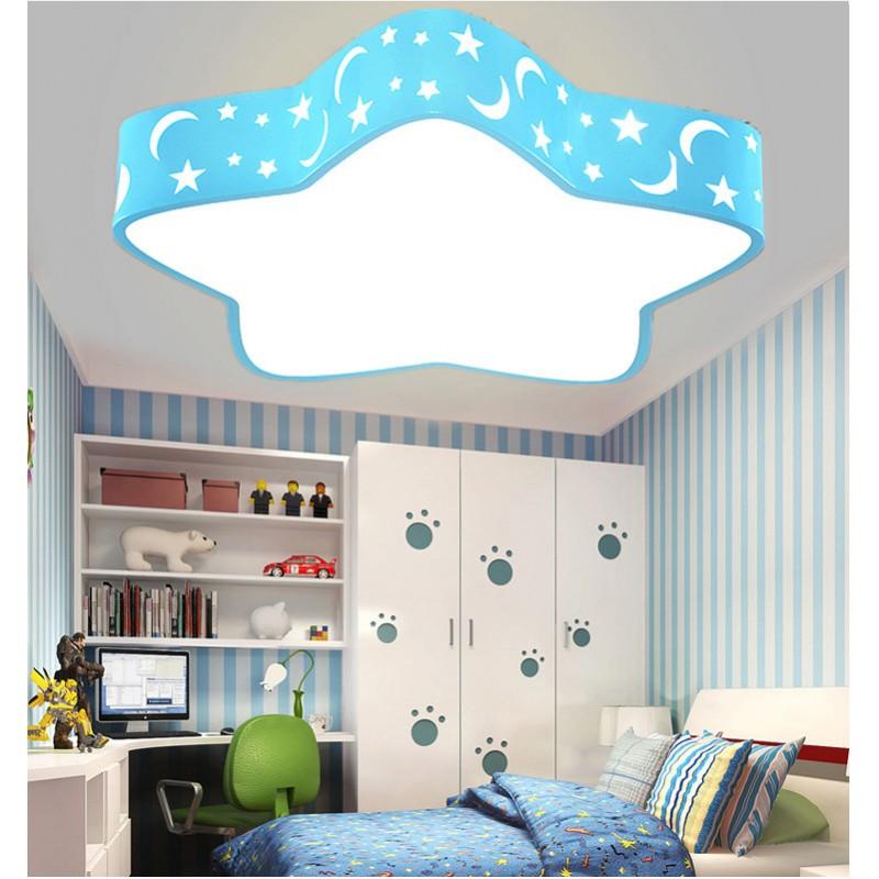 Plafonnier LED Plafonnier avec Étoile et Lune Conception Romantique Led Mur Lumière Enfants Lampe Enfants Lampe pour Salon Chambre Salle De Jeux