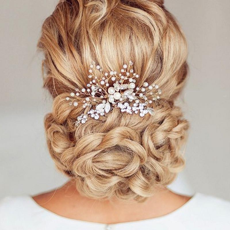 Épingles à cheveux de fée accessoires de cheveux de mariage peigne pinces à cheveux avec perle simulée