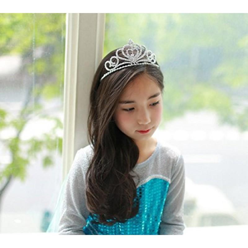 Strass Cristal Diadème De Mariage Mariée De Bal Anniversaire Pageant Princesse Couronne (Cœur) pour les enfants