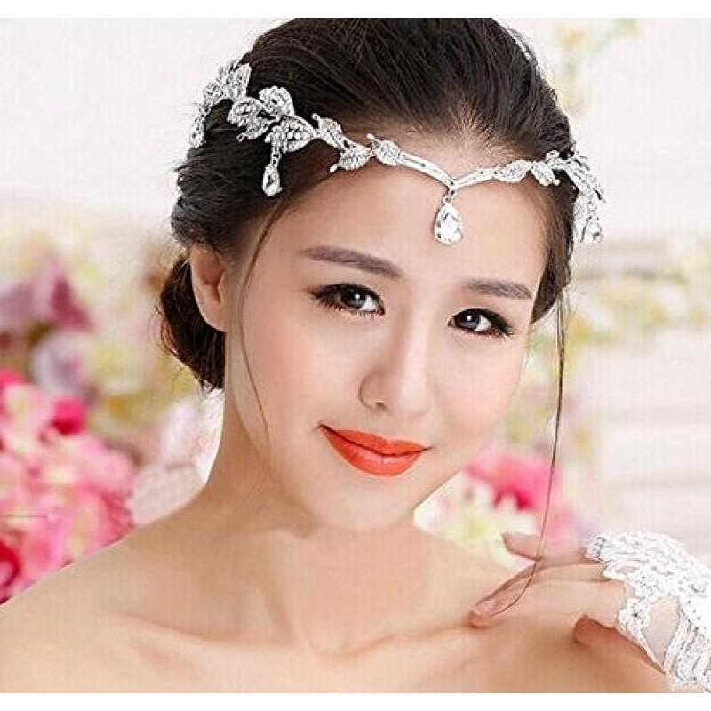 Bandeaux de mariage élégants en strass avec serre-tête bandeau Couronne de diadème de mariée