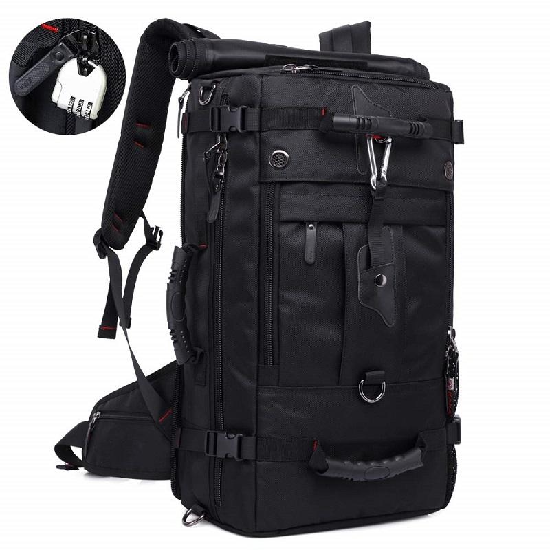 KAKA Sac à dos de voyage, bagage à main résistant à l'eau Weekender Duffle Sac à dos Sac à dos Daypack pour hommes femmes