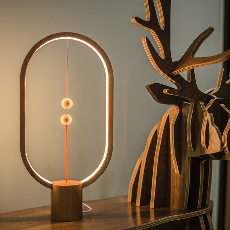 ALLOCACOC Smart Balance Magnétique Lampe Chevet Chambre Veilleuse