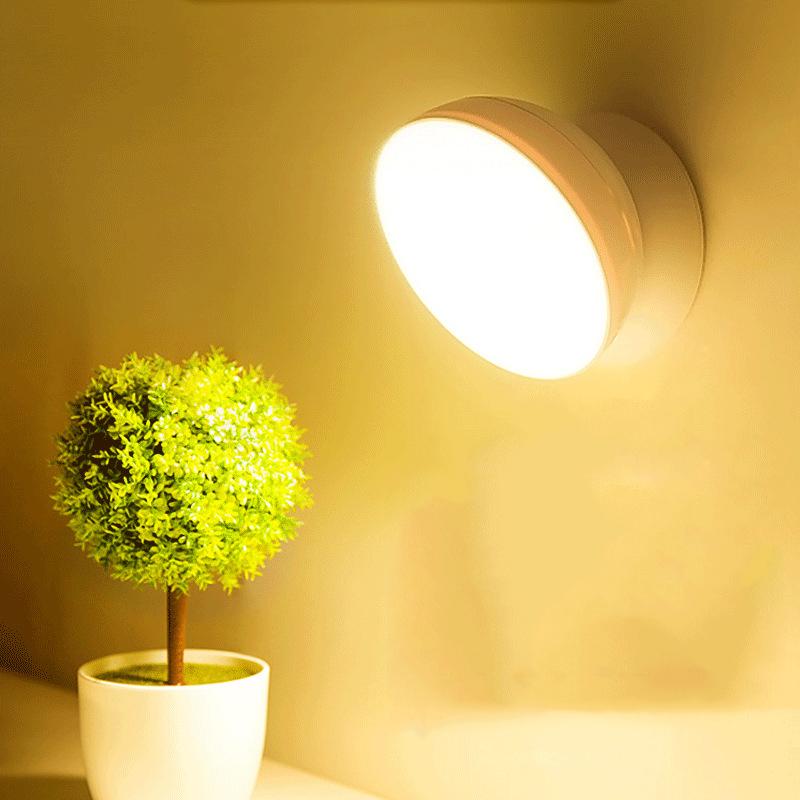 Lumière d'induction de chambre à coucher sur USB chargeant la lumière de nuit menée démontable