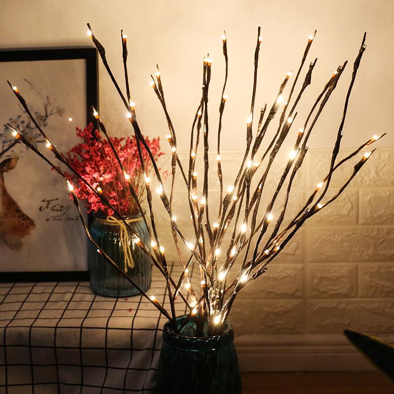 3 Pack Branches De Brindille Lumineuse Chaud Blanc 60 LED Lumières Artificielle Branches De Saule Arbre pour Maison Décoration De Fête De Vacances Décoration Décor À Piles