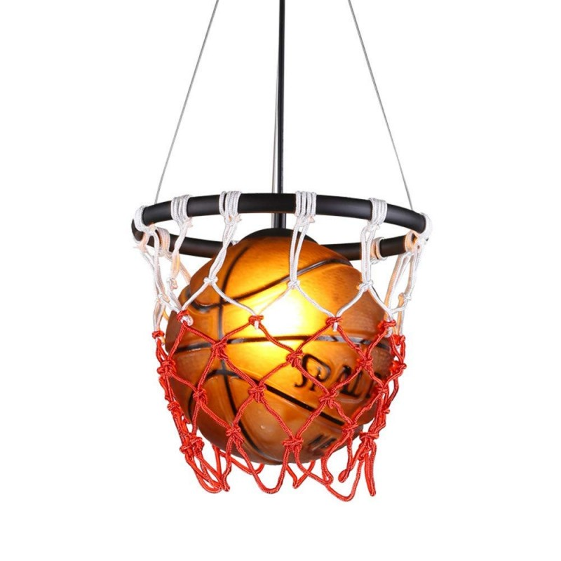 Creative Basketball Pendant E27 Support De Lampe Maison Loft Deco Plafonnier