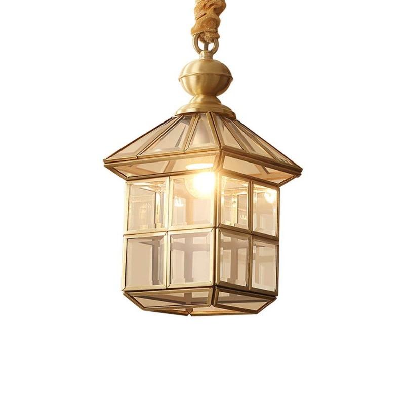 Pays d'Amérique petites lampes suspendues Vintage lustre en cuivre à une tête