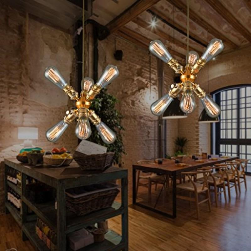 Plafonnier moderne lustre en cuivre lampe de salon lustre unique