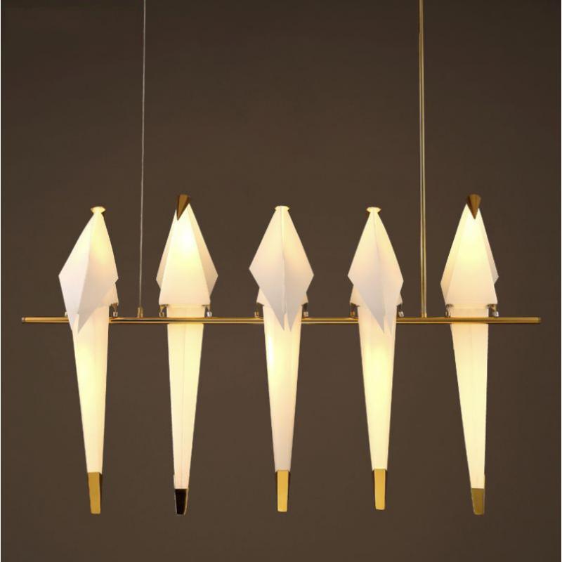 Lampadaires créatifs de lustre postmoderne (taille: 5 lampes)