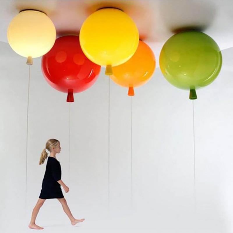 Balloon Plafonnier Suspension Lampe Acrylique Moderne Loft Abat-Jour Kid Chambre Lumière