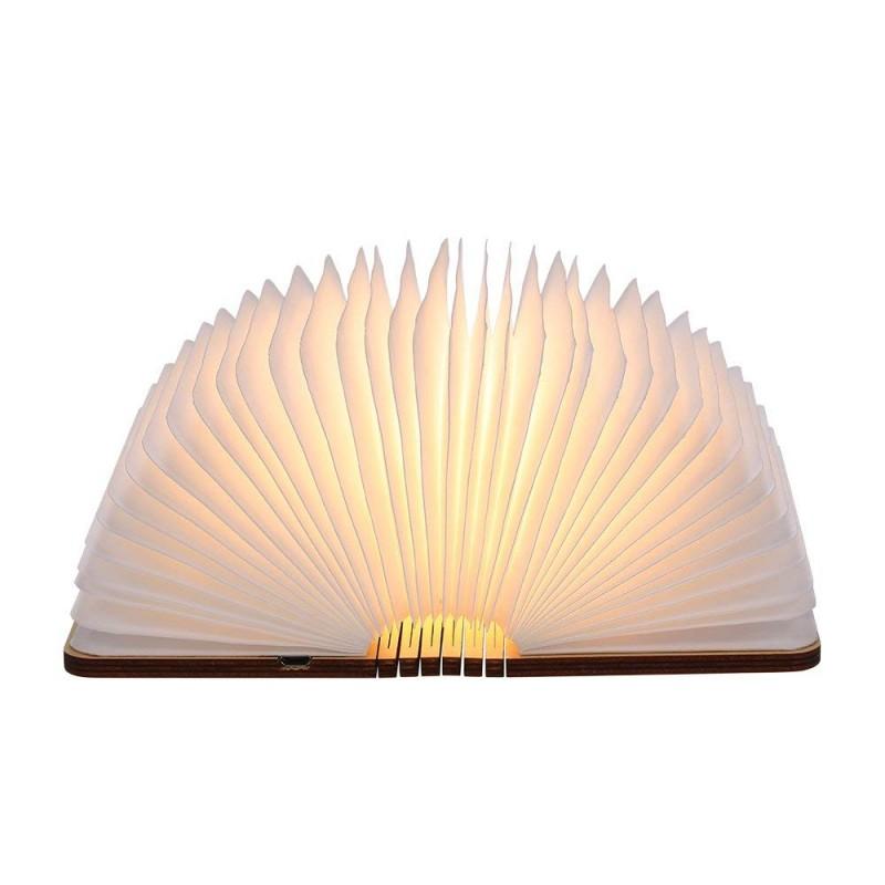 Lampe de lecture pliante, rechargeable par USB, lumière LED magnétique en bois, lumières décoratives, lampe de table,