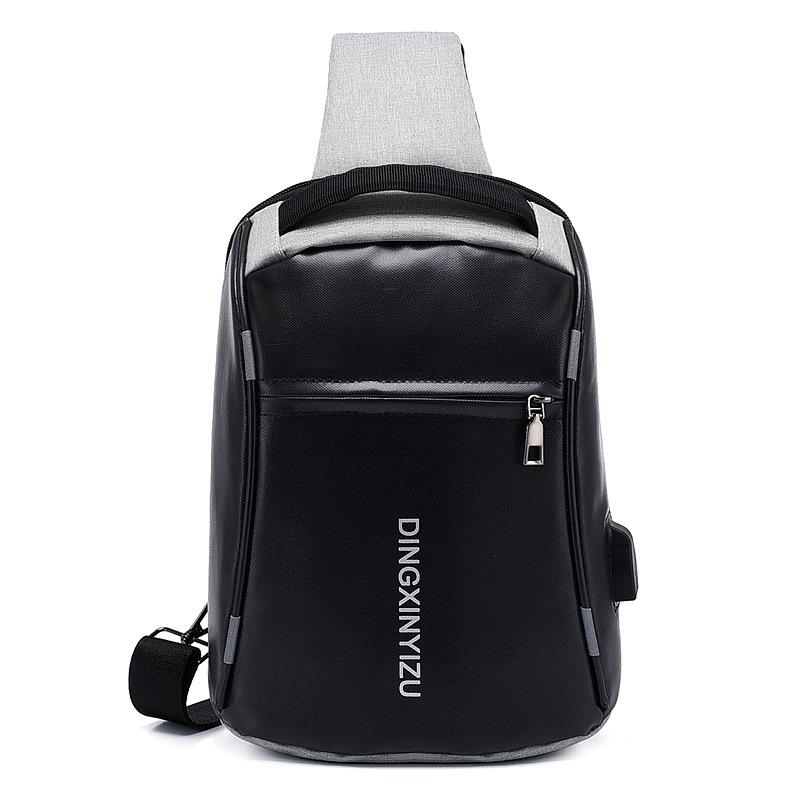 Sac à bandoulière anti-vol USB sac à bandoulière en bandoulière pour sac à dos léger et décontracté