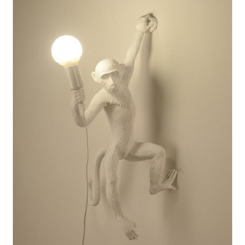 Lampe de singe de style industriel vintage - Lustre en corde de chanvre - E27
