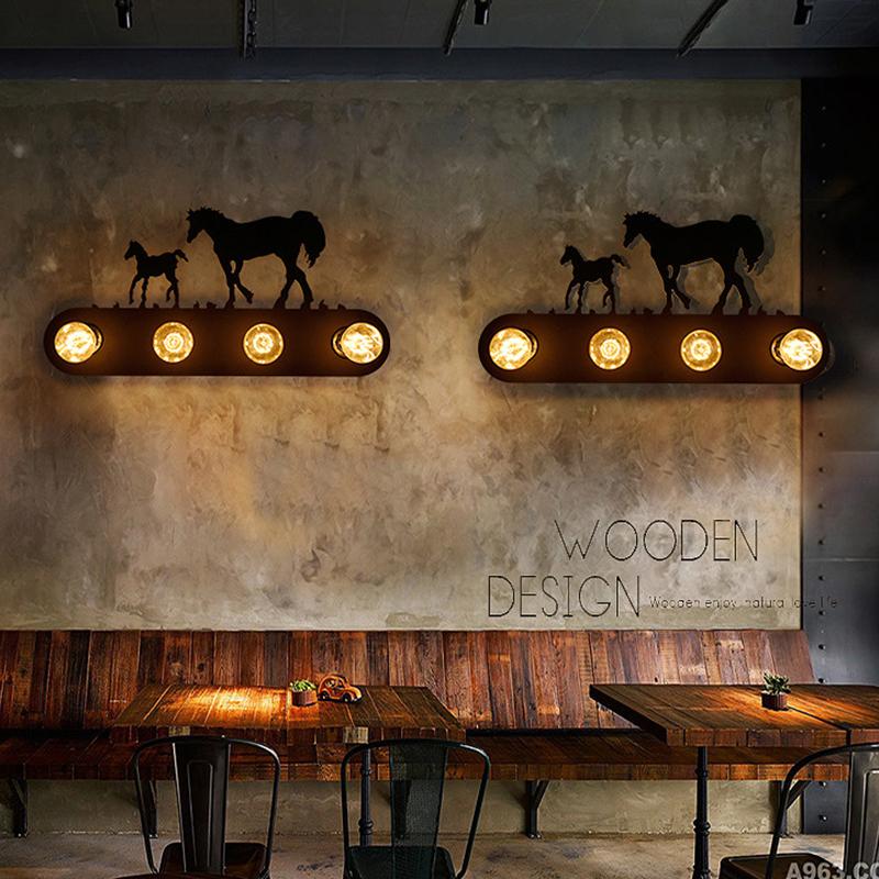 Applique éolienne, lampe de chevet vintage rustique salon industriel chambre allée escalier lumière