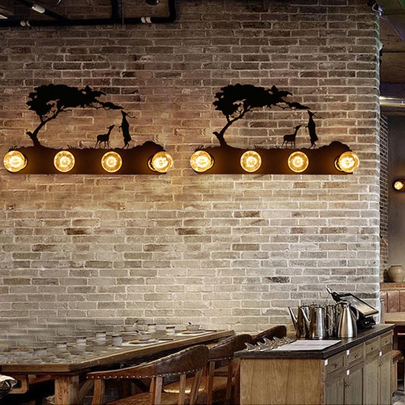 Applique éolienne Lampe De Chevet Vintage Rustique Salon Industriel