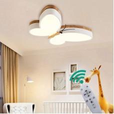 Plafonnier LED papillon lampe de plafond Dimmable enfants lampe de pépinière enfants 30w, plafonniers de lustre écran en métal acrylique