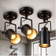 Spot de plafond LED rétro Vintage Spotlight plafonnier spot intérieur lampes pivotant industriel spot mural noir lampe réglable éclairage