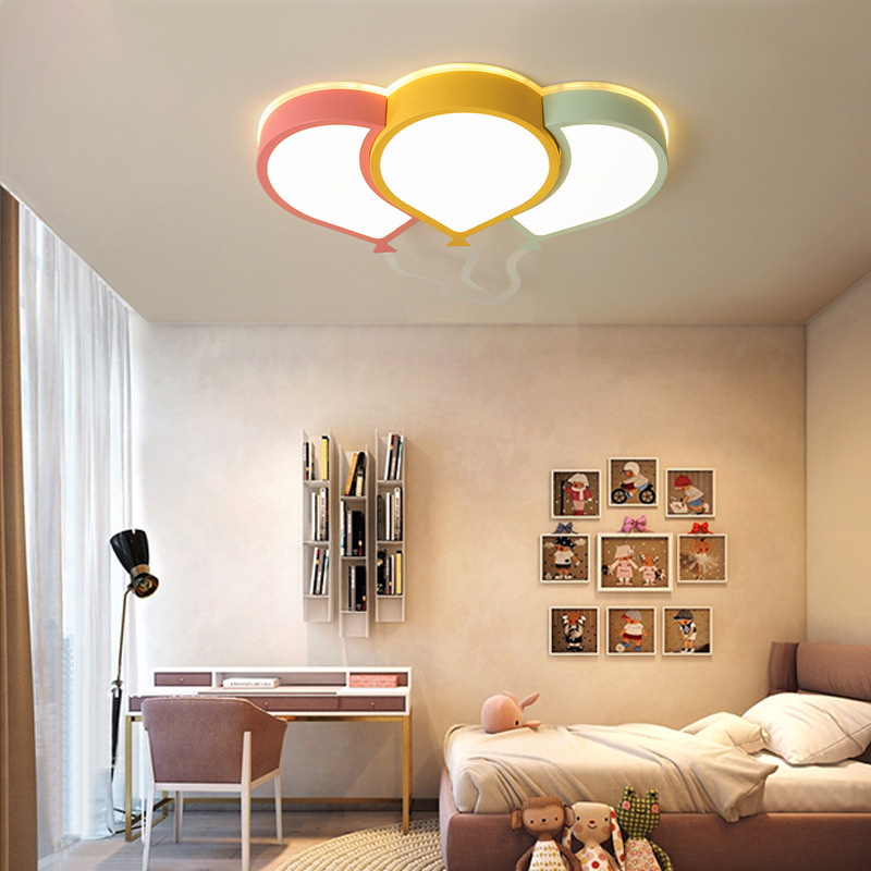 Plafonnier LED ultra-mince 6cm Creative vert jaune rose ballon lumière plafonnier plafonnier chambre d'enfant