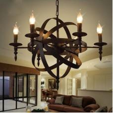Médiéval pendentif rond bougie lustre plafond lampe suspension noir château style fer forgé massif s lustre