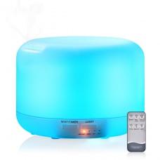 Diffuseur D'huiles Essentielles 300ml Humidificateur d'air Ultrasonique Brume Fraîche Diffuseur de Arôme Parfum Aromathérapie avec 7-Couleurs LED pour Chambre Bureau Yoga Spa Massage
