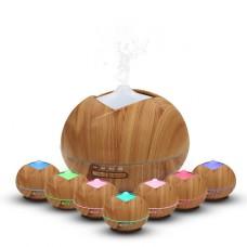 diffuseur huiles essentielles electrique (400ml), Parfum Aromathérapie Humidificateur Ultrasonique pour SPA, Yoga, Maison, Silencieuse 7-Couleurs Changeantes, 4 Réglages de Temps