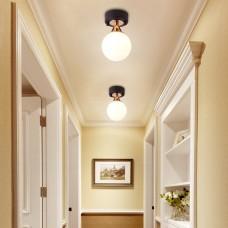 LED Lampe de plafond, Lumière tricolore,Lampe de boule en verre, Plafonnier pour Chambre à coucher, Couloir, Salon, etc