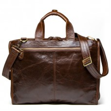 "Sac bandoulière Ordinateur Cuir 15"" Sac Porte-Document Grand Sac Homme Messager Marron"