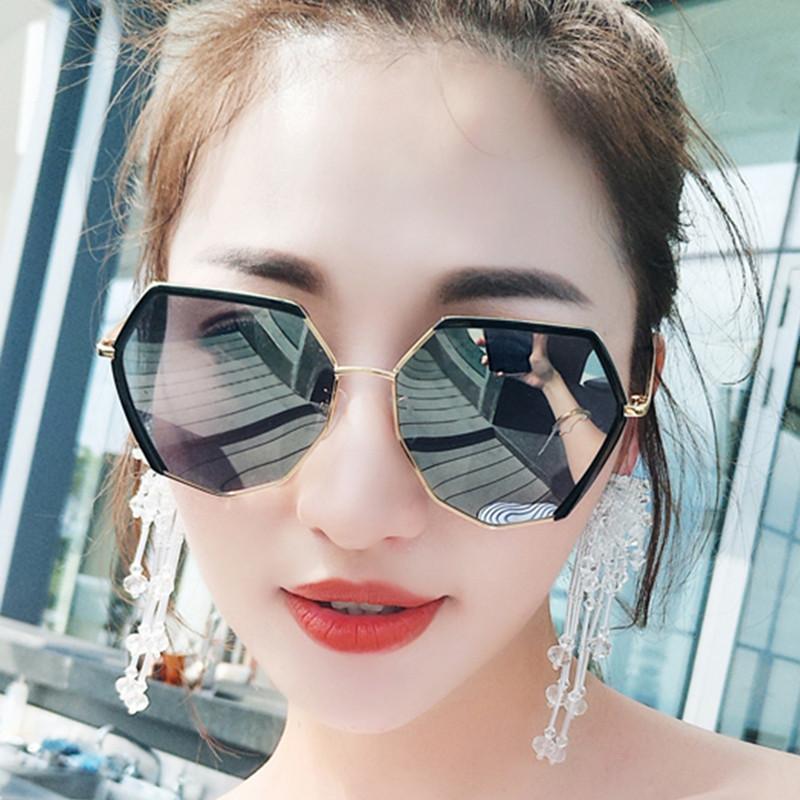 Lunettes de soleil polarisé Oeil de Fashion Mode Classique Miroir Réfléchissantes cadre Métallique pour femme avec protection UV400