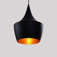 Métal Retro Suspensions Luminaire Lampe Industriel Vintage Plafonnier Luminaire Antique Pendante éclairage Vintage Aluminium Plafond Lustre Plafonnier Lampe LED Antique Suspensions Luminaire(Noire)
