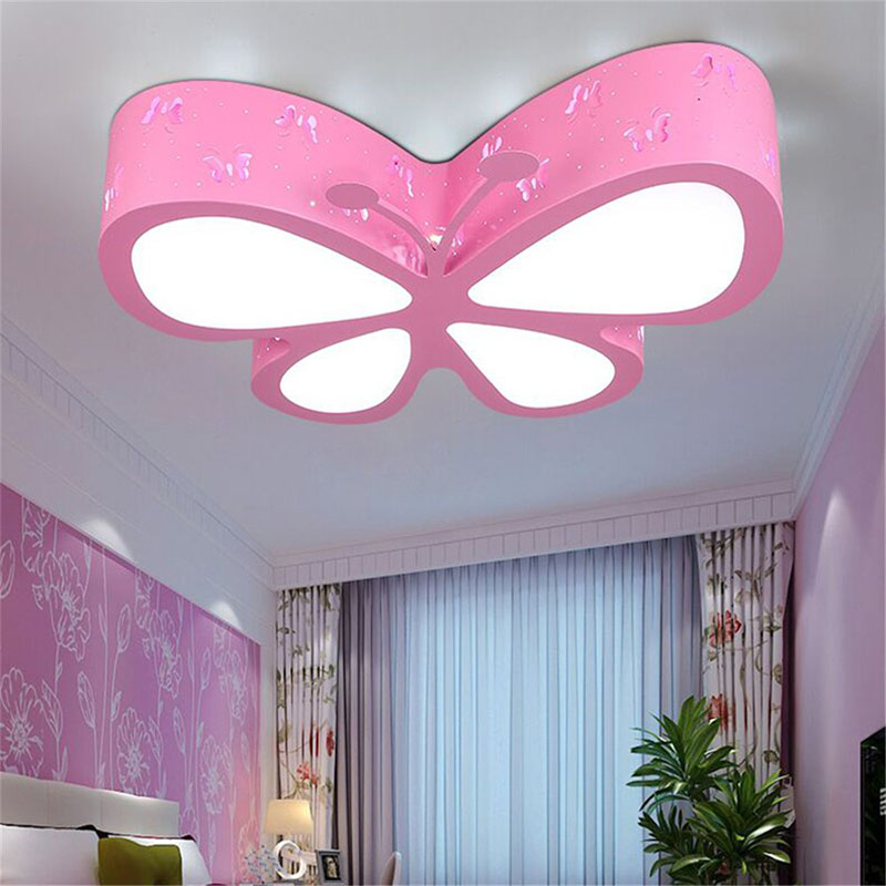 Papillon D'enfant Chambre Led Lampe Plafonnier Créative A5R4jL